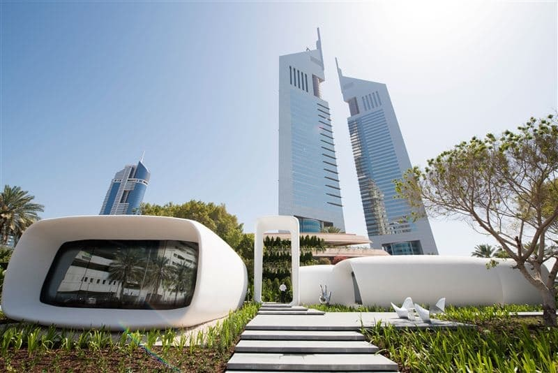 "The so-called ""Office of the Future"" in its finalized, 3D printed form. Image: Government of Dubai"