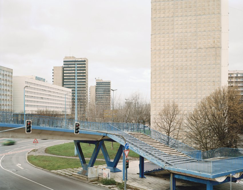 For Bezjak, these buildings are not just relics of a failed system, but also, simply, home. That cant be measured according to aesthetic or social categories, but only in terms of memories, he says. This photo shows the city of Halle in eastern Germany.