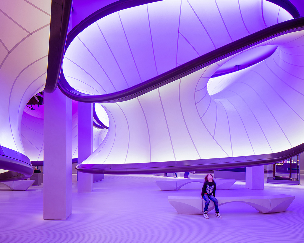 Mathematics: The Winton Gallery in London by Zaha Hadid Architects, shortlisted in the Civic, Culture & Transport category.