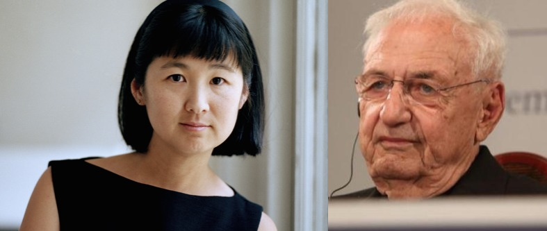 Honorees Maya Lin and Frank Gehry. Composite image derived from original images: pbs/Inés Martín Rodrigo
