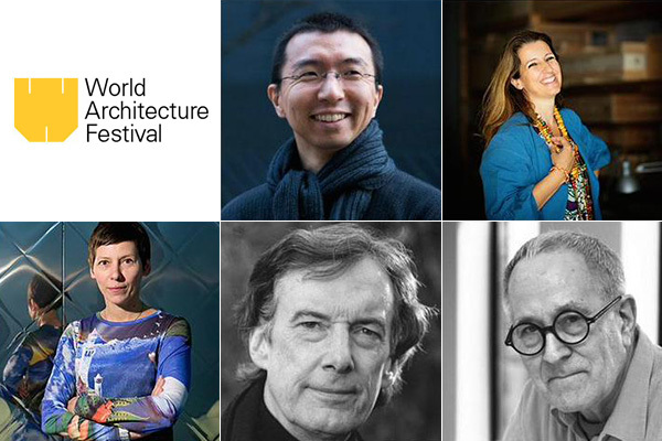 Only a few of WAFs 70 strong jury this year: Sou Fujimoto, Benedetta Tagliabue, Sir Peter Cook, Charles Jencks, Manuelle Gautrand (clockwise from top-center)