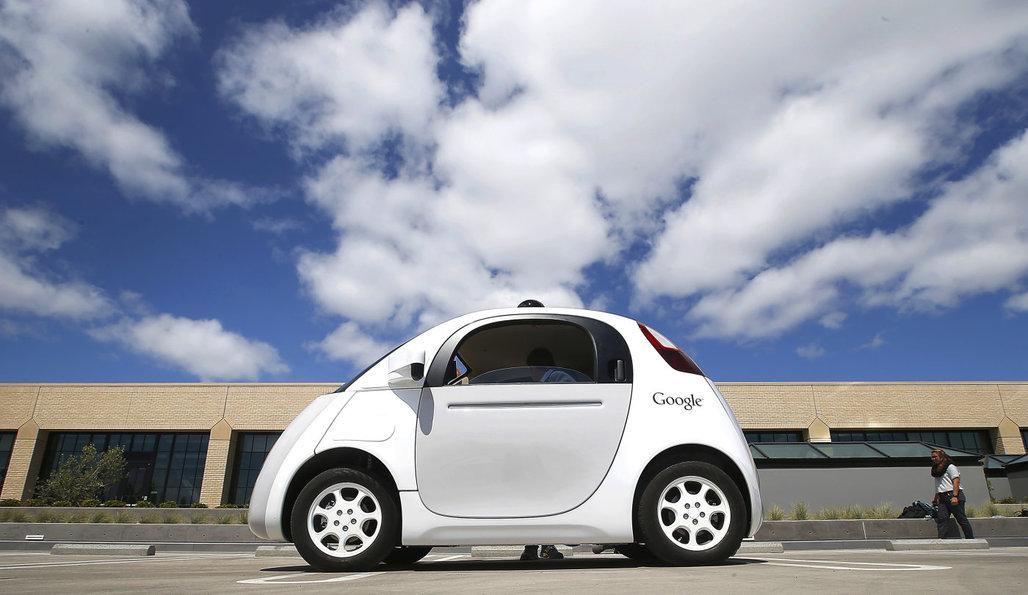 One of Googles self-driving cars, via engadget.com.