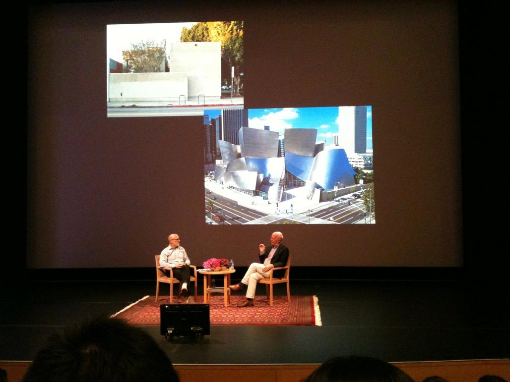 Paul Goldberger and James Cuno discuss Gehrys Danziger Studio and Walt Disney Concert Hall.
