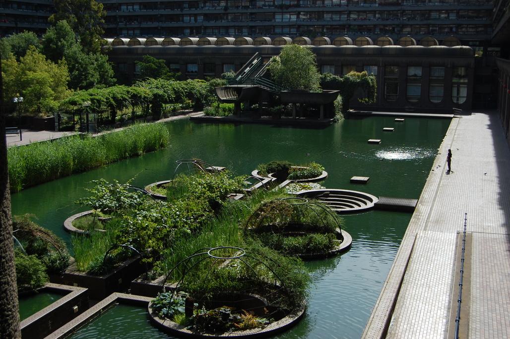 Barbican Estates in London. Image via Wikipedia/Andy Mabbett.