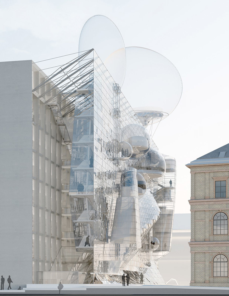 Competition-winning design for the University of Applied Arts Vienna by Wolfgang Tschapeller (Image: Wolfgang Tschapeller)