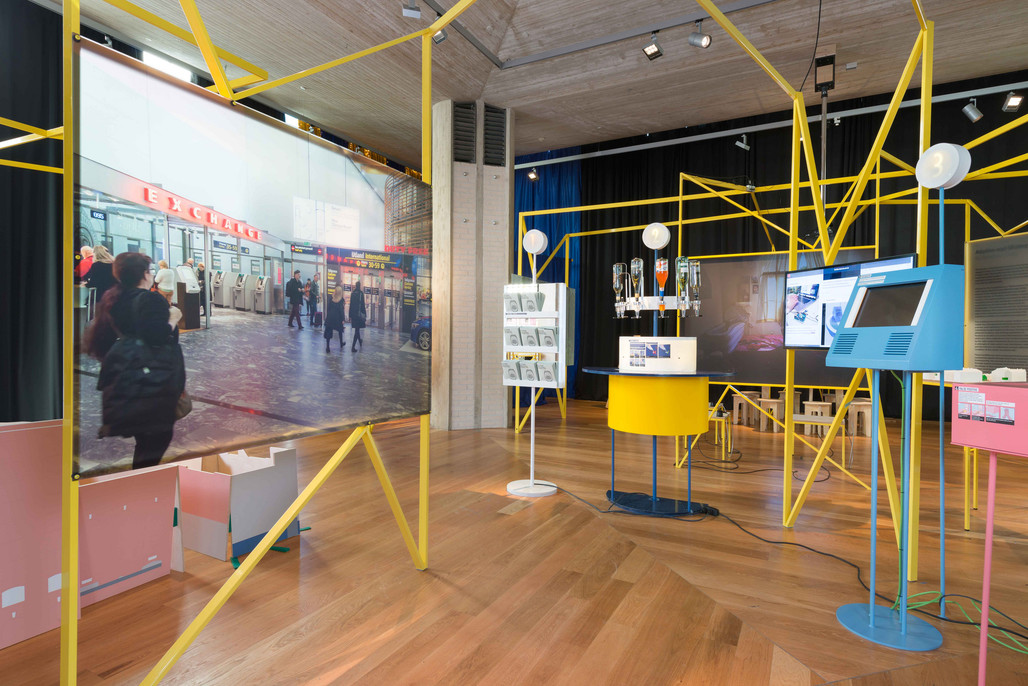 """The """"Managing Dissidence"""" installation in the """"In Residence"""" exhibition of the 2016 Oslo Architecture Triennale."""