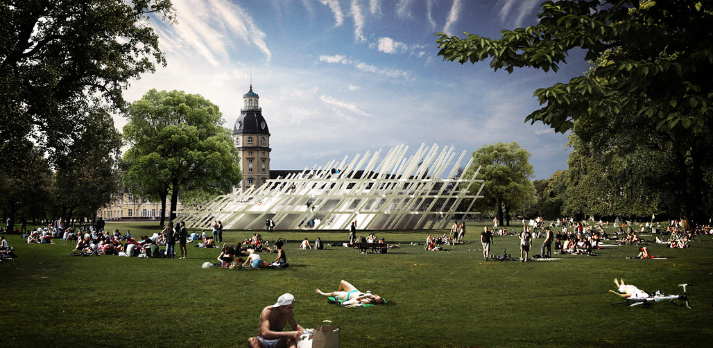 Pavilion for the Karlsruhe City Jubilee by J. MAYER H. Image © J. MAYER H.