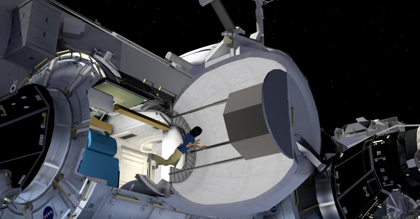 Screenshot of NASAs BEAM installation.