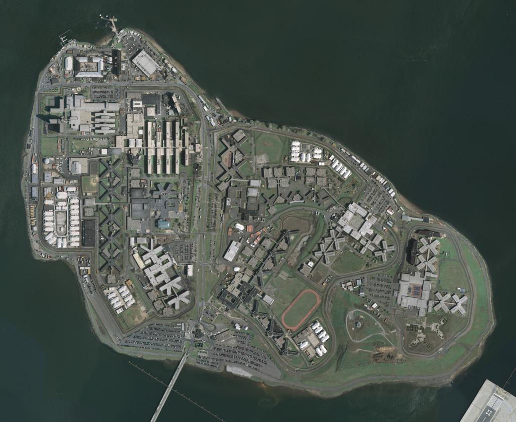 Aerial photo of Rikers Island, New Yorks penal colony. (Photo via Wikipedia)