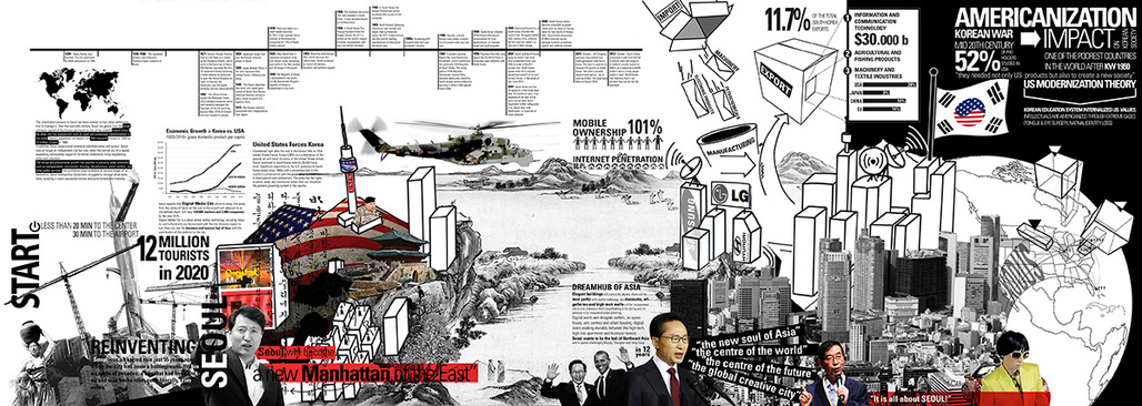 Korean Diaspora by Carlos Zarco Sanz won 3rd-prize in the Public/Institutional category for Re-thinking The Futures International Architectural Thesis Award 2013. Image: Carlos Zarco Sanz.