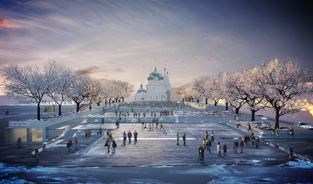 """Community Plaza. """"Community and Earth"""" - Spartak Museum competition entry by Lockhart Krause Architect"""