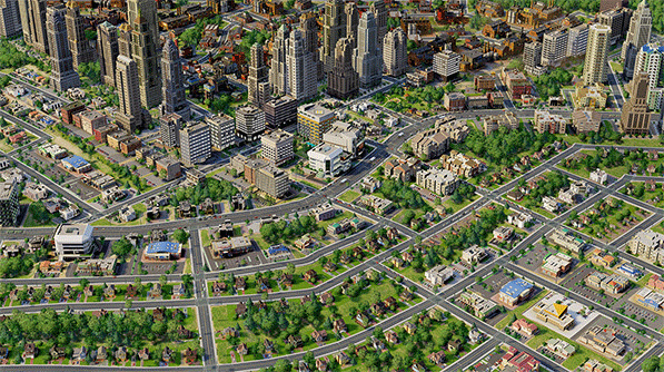 This fantasy town built in SimCity5 might be battling the problem of homelessness just like any other real town. (Image via simcity.com)