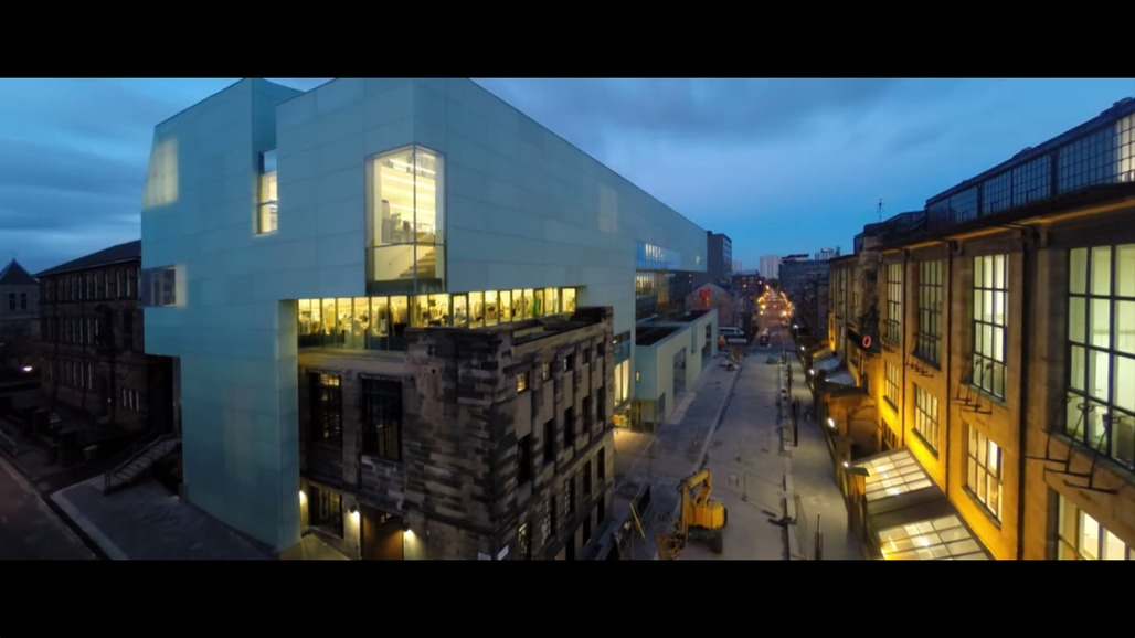 """Screen shot from Spirit of Spaces """"Glasgow School of Art, Steven Holl Architects"""" film."""