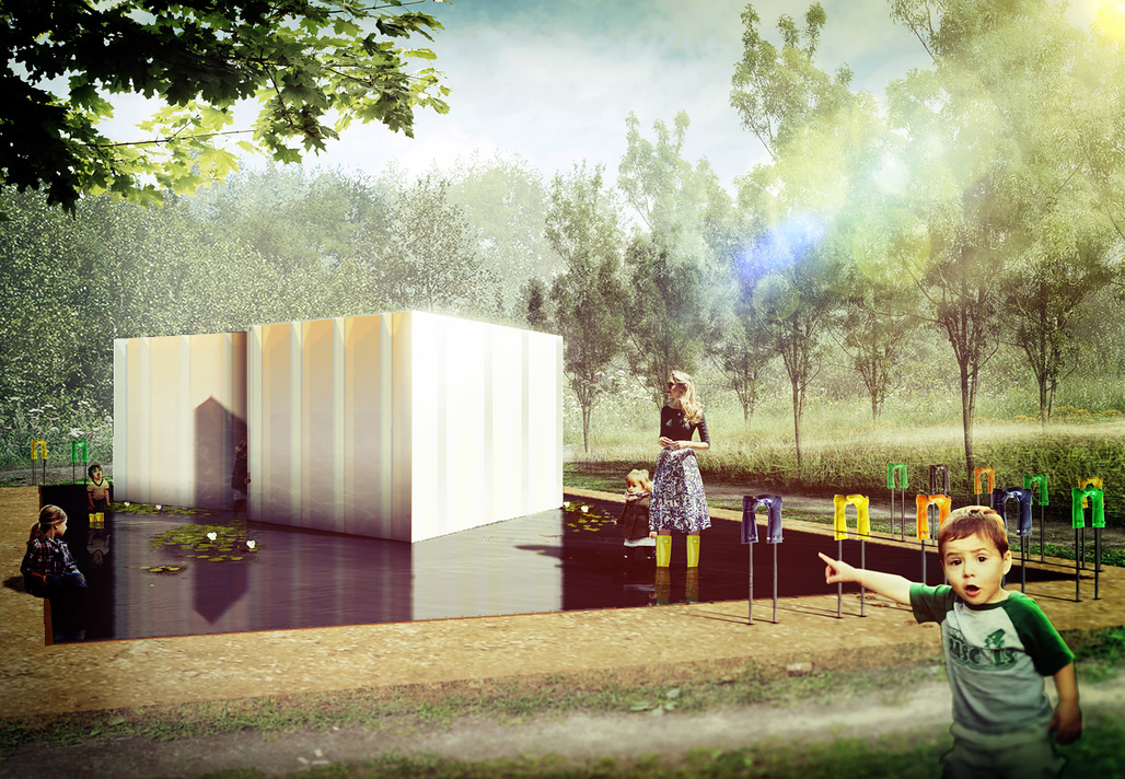 SE MOUILLER (la belle échappée) by Groupe A / Annexe U will be one of the installations at the 16th International Garden Festival at the Reford Gardens in Quebec. Photo credit: Groupe A / Annexe U