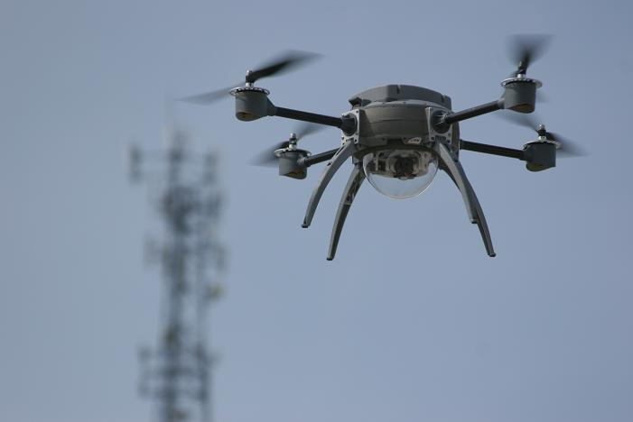 A fancy-looking quadcopter in action. Credit: Wikipedia