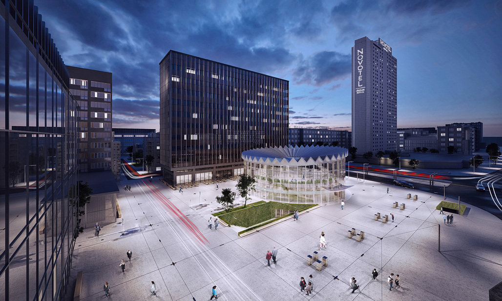 GowinSiuta Studios winning design for the Warsaw Rotunda. Image: Gowinsiuta Studio.