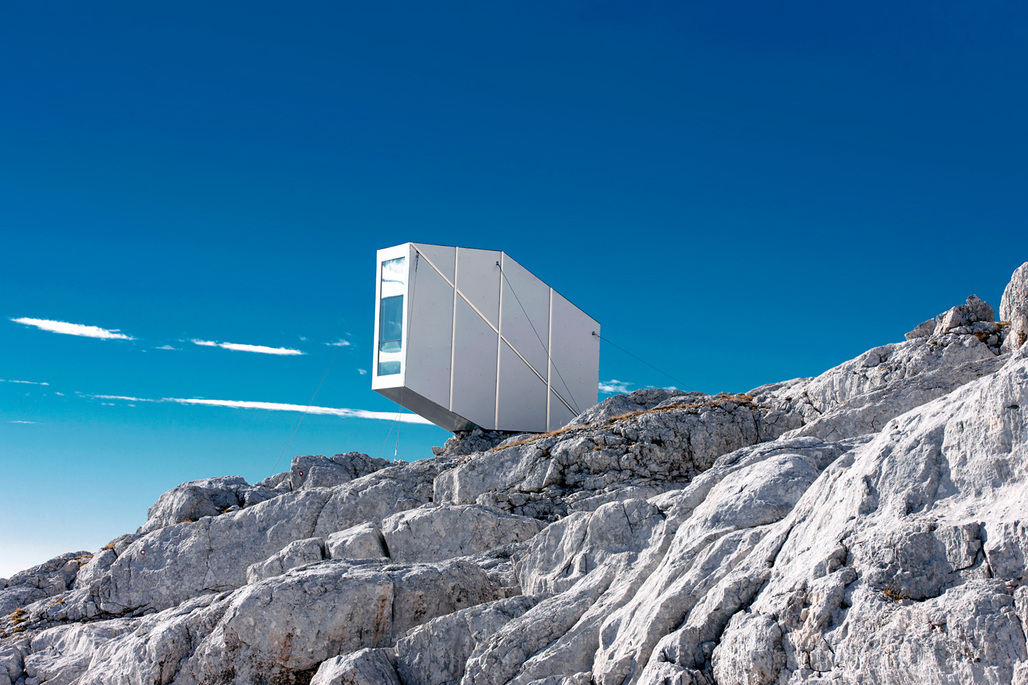 OFIS Winter Cabin on Mount Kanin. Photo credit: Janez Martincic