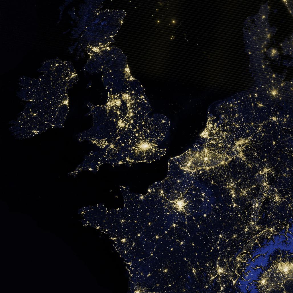 Satellite image of the United Kingdom. Image via NASA Earth Observatory/flickr.