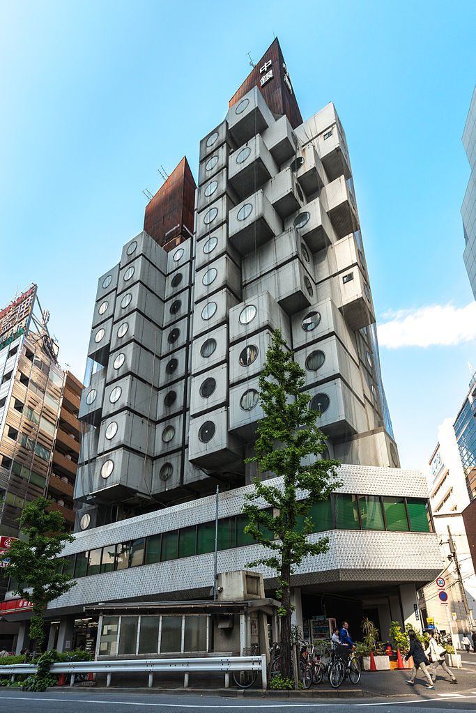 The Nakagin Capsule Tower. Image: Wikipedia