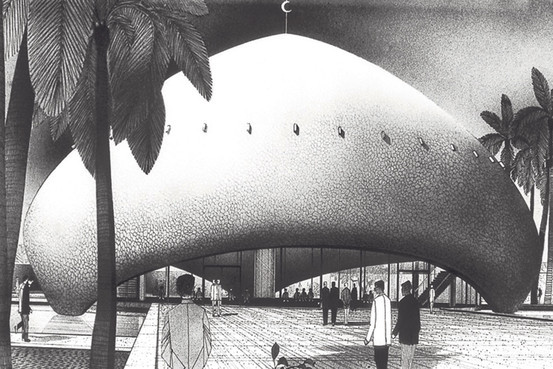 Walter Gropius and Hisham A. Munirs design for the University of Baghdad Campus (1957).