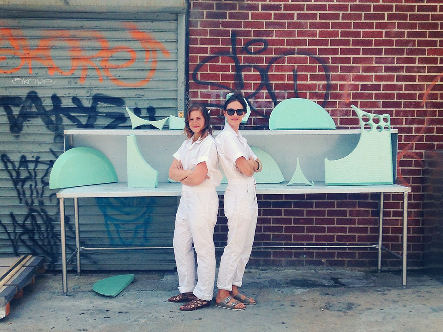 Designers Elisa Werbler and Lucy Knops established The Foam Agency as part of their summer residency at the Makeshift Societys newest location in Brooklyn, NY. Photo courtesy of The Foam Agency
