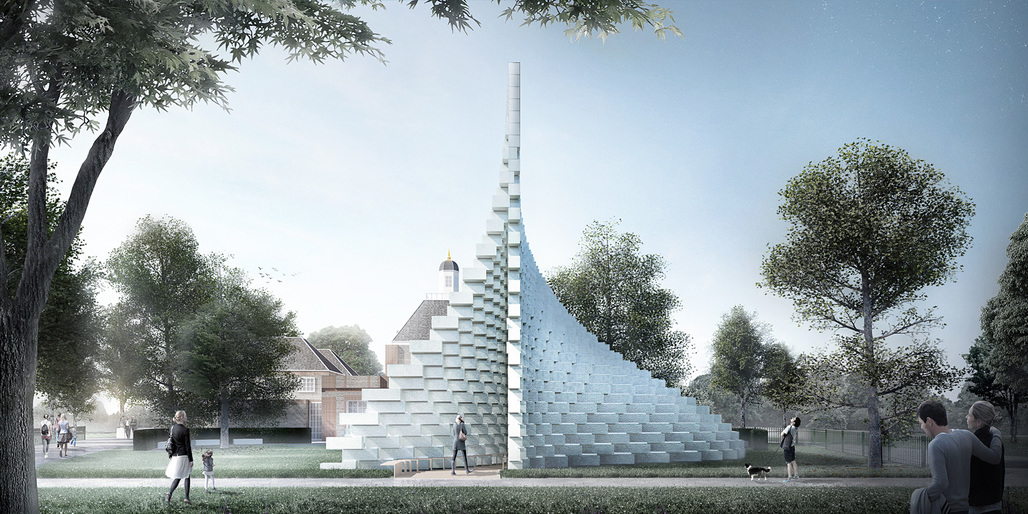 Serpentine Pavilion 2016 designed by Bjarke Ingels Group (BIG); Design render © Bjarke Ingels Group (BIG)