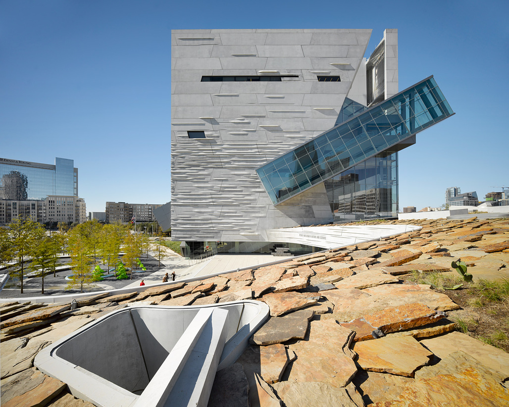 Perot Museum of Nature and Science; Dallas by Morphosis Architects; Associate Architect: Good Fulton & Farrell. Photo by Roland Halbe.