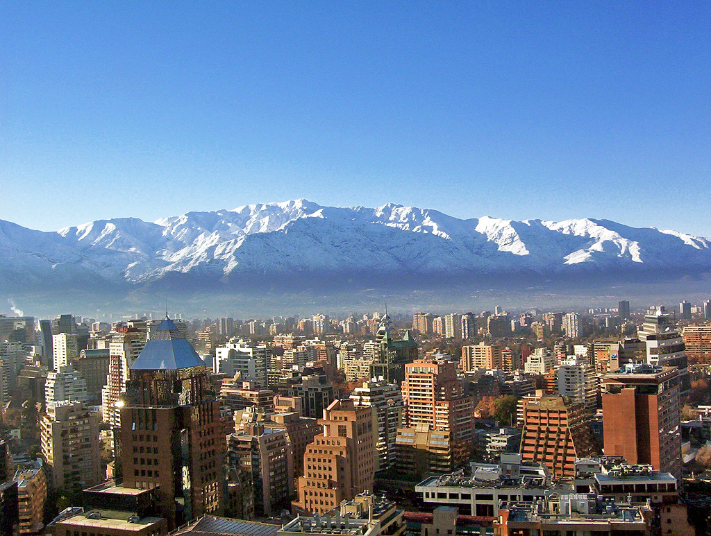 "Sitting right on the seismically active ""Ring of Fire,"" Chiles strict building codes appear to have taken the edge off recent massive earthquakes. (Photo of Santiago de Chile via Wikipedia)"