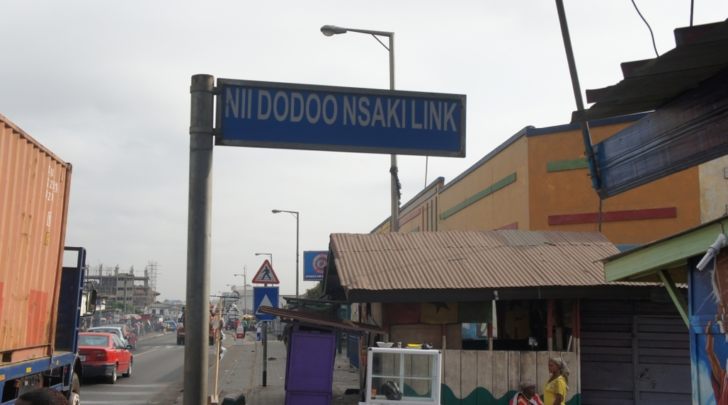 A newly named street in Accra, capital of Ghana. Photo credit: Anny Osabutey, via Citiscope.