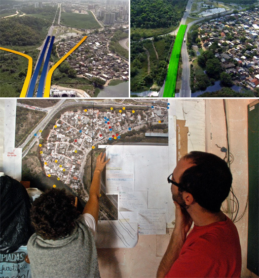 A proposed BRT line may displace the favela of Vila Autodromo, adjacent to the Rio 2016 Olympic site.