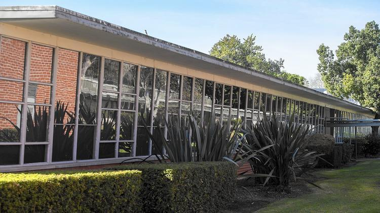 The old math building at Orange Coast College, designed by renowned architect Richard Neutra, is to be torn down under the colleges Vision 2020 expansion plan. (Scott Smeltzer / Daily Pilot) Image via latimes.com.