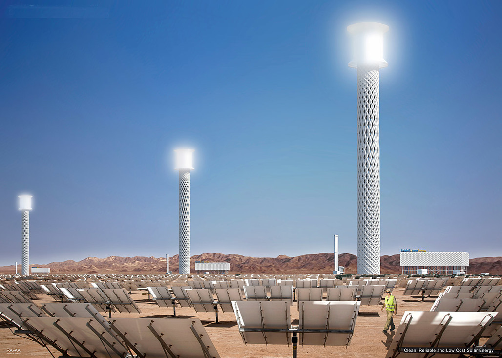 RAFAAs proposed Solar Plant Tower, Concept A (Image: RAFAA)