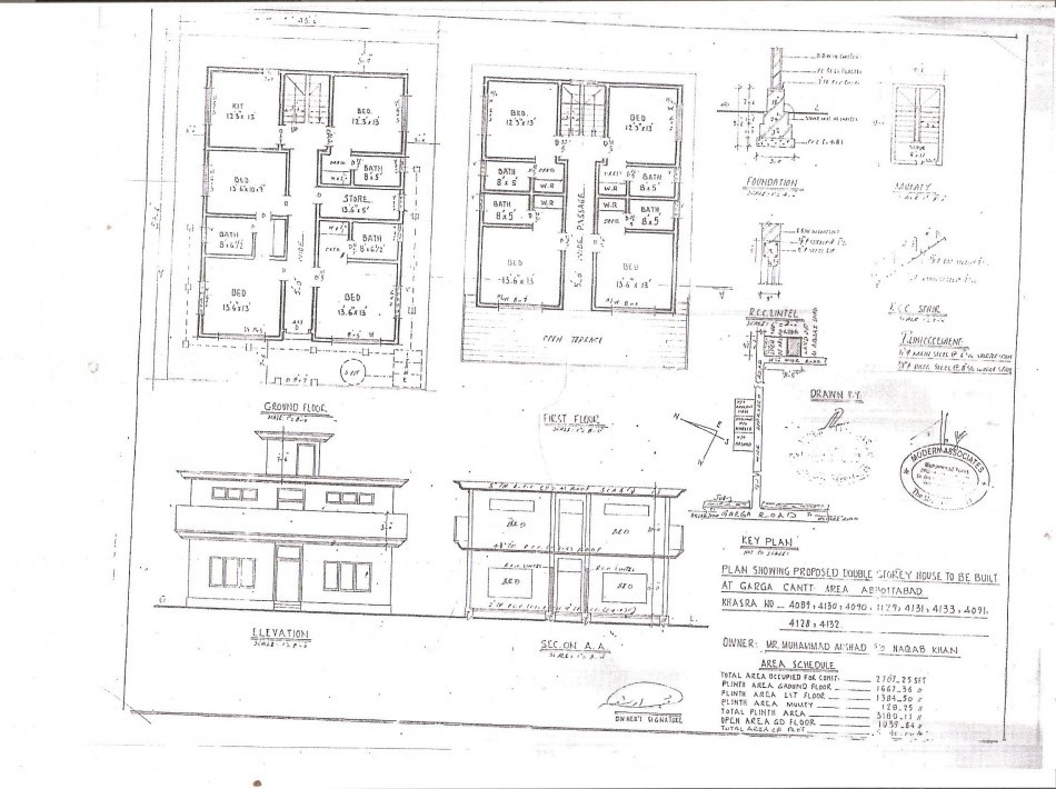The original architectural plans for the house in Abbottabad, Pakistan where Osama Bin laden was found and killed last week, as obtained by The Independent.