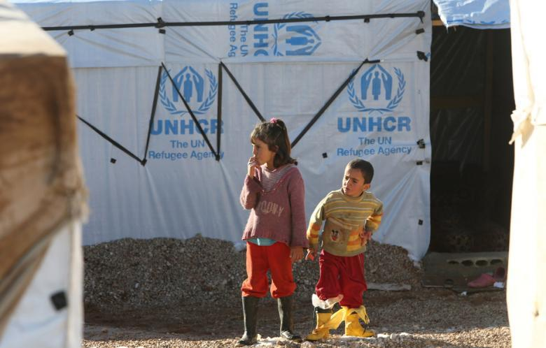 A UNHCR tent in Ersal, Lebanon. Image credit: Al-Akhbar/Haitham Moussawi
