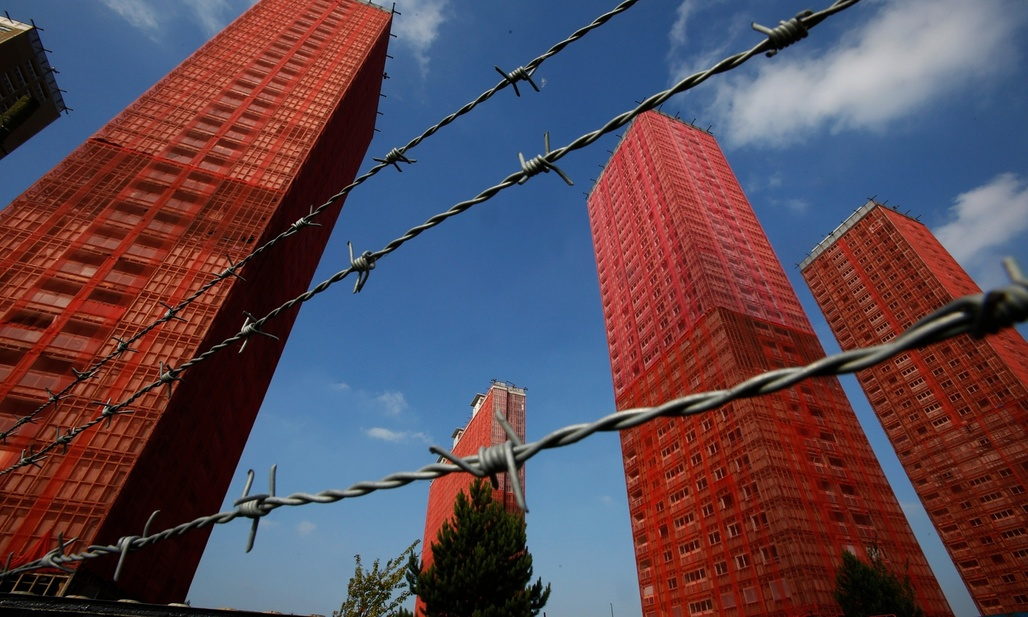 Glasgow's Red Road flats. Hailed as the solution to slums, they came to represent the failings of 20th-century high-rise housing. Photograph: Murdo MacLeod/Guardian. Image via theguardian.com.