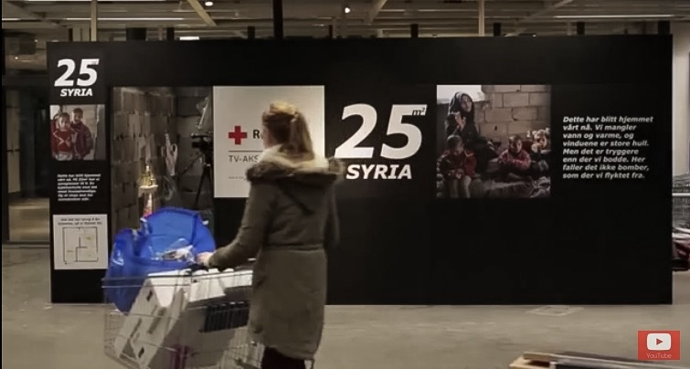 Screenshot from the video documenting the 25 square meters of a Syrian home