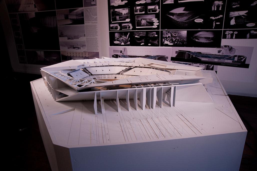 "Final model of ""Salvaged Stadium."" Photo courtesy of Yaohua Wang."