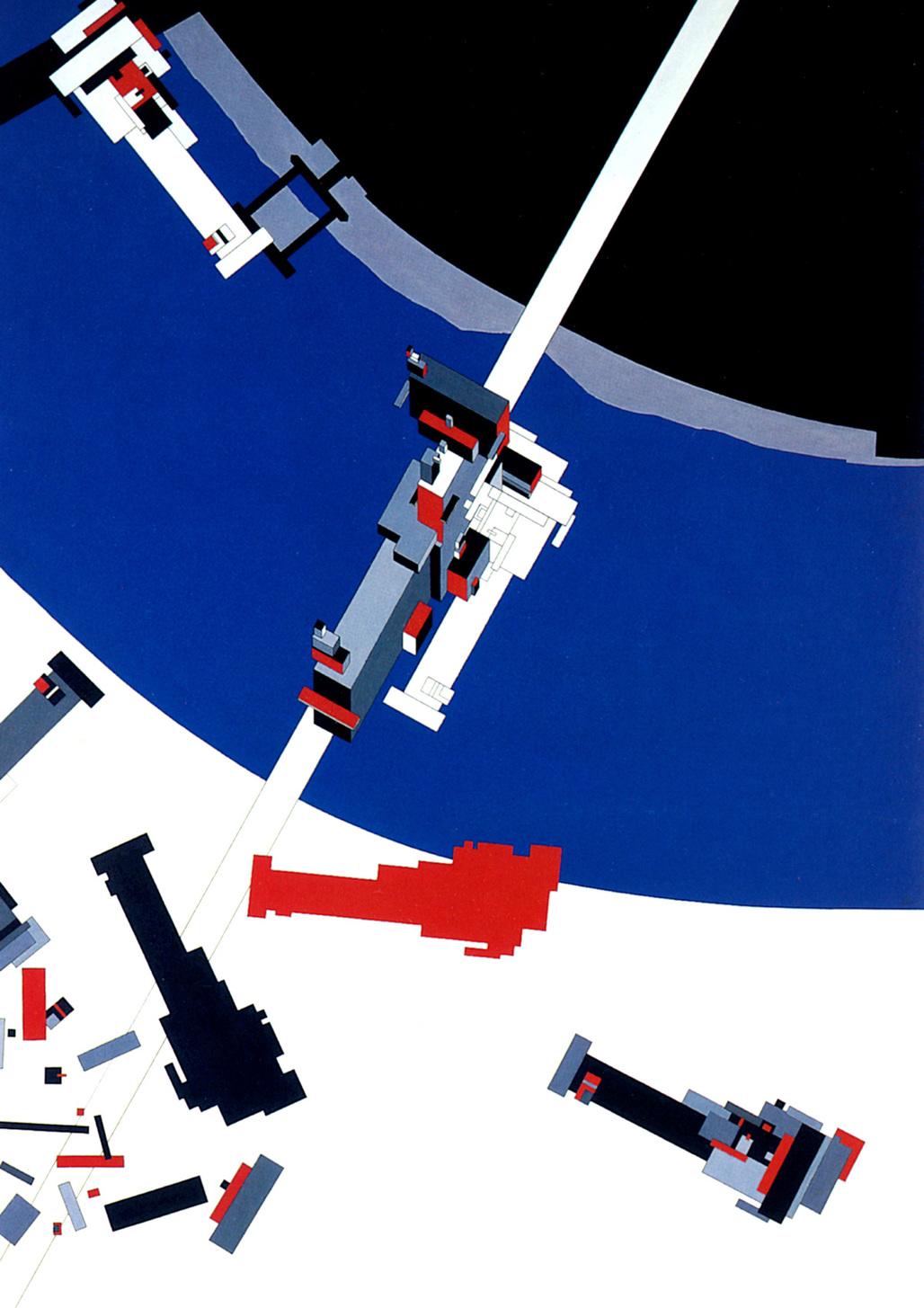 Malevichs Tektonik. Painting by Zaha Hadid. Image via http://www.arcspace.com/
