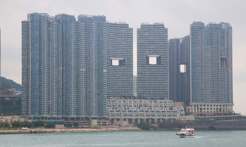 Holey skyline! A picture of some of Hong Kongs signature towers. Image: artmoony.com