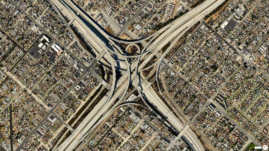 Judge Harry Pregerson Interchange in Los Angeles. Image via Reddit.