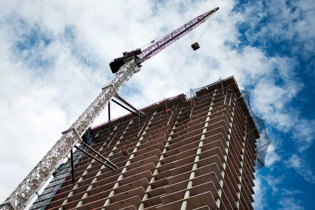 Condo being constructed in Brooklyn. Image via bloomberg.com