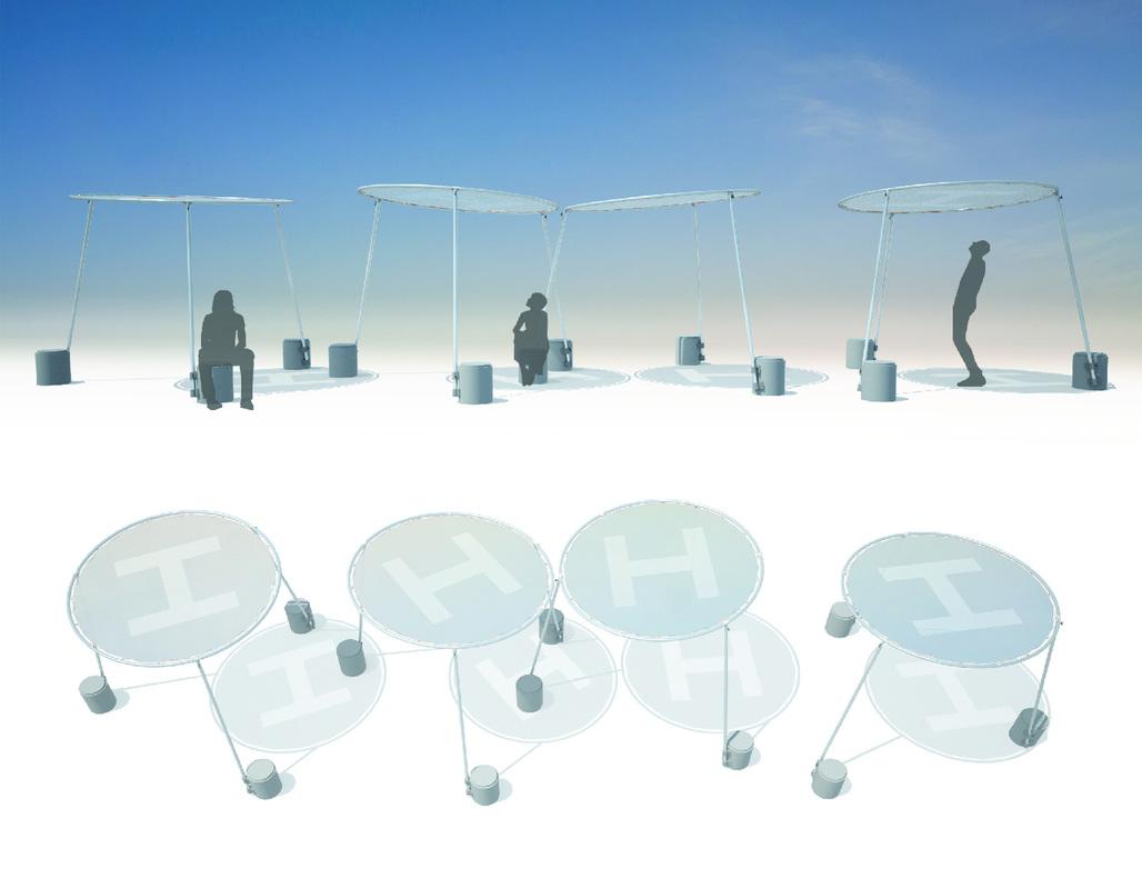 "Rendering of ""Circle Shade - 2πR4"". Courtesy of Eva Jensen Design."