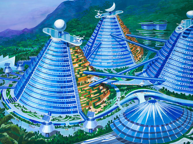 "Illustration from the ""Utopian Tours"" design competition. Image via fastcoexist.com"
