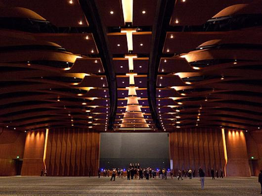 The Grand Ballroom is the largest in the state at 57,500 square feet. Its designed to feel like the inside of an acoustic guitar. - Stephen Jerkins