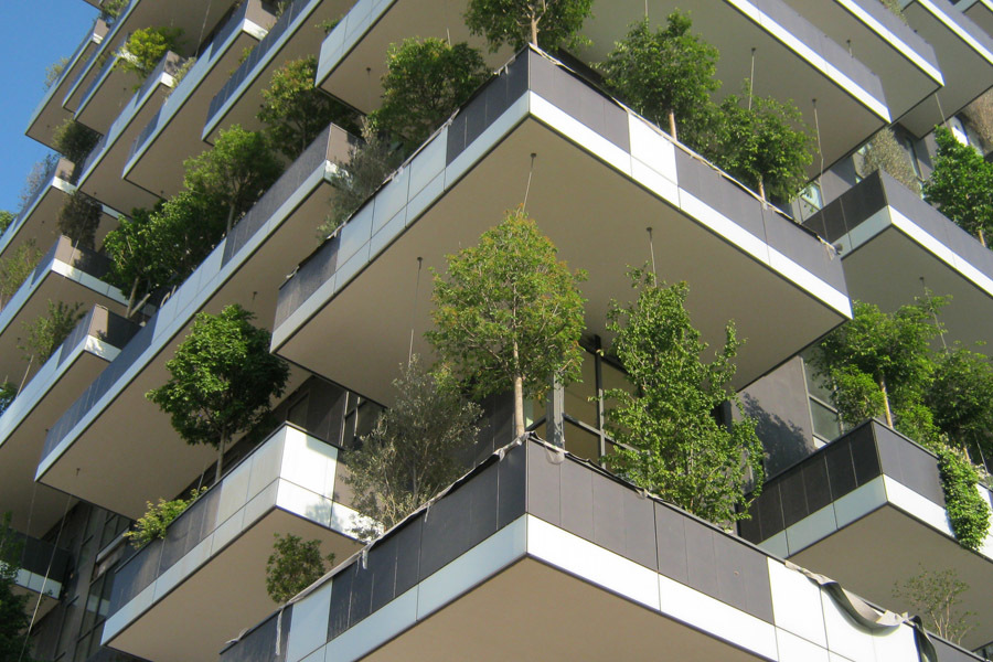 "Boeri Studios Vertical Forest in Milan consists of two residential towers that are ""made"" of various trees and plants. Photo: Architect Boeri Studio"