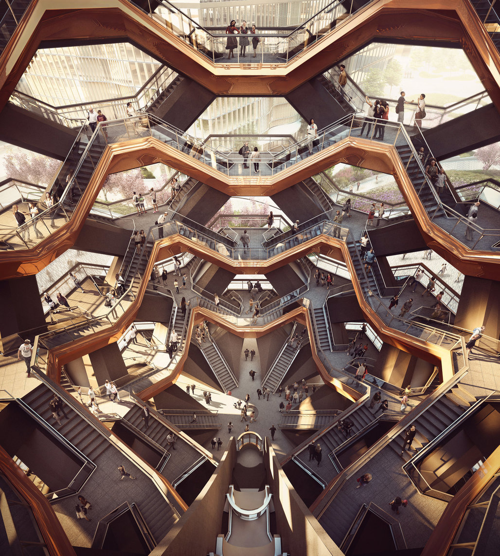 Rendering of Heatherwicks Vessel. Credit: Forbes Massie-Heatherwick Studio