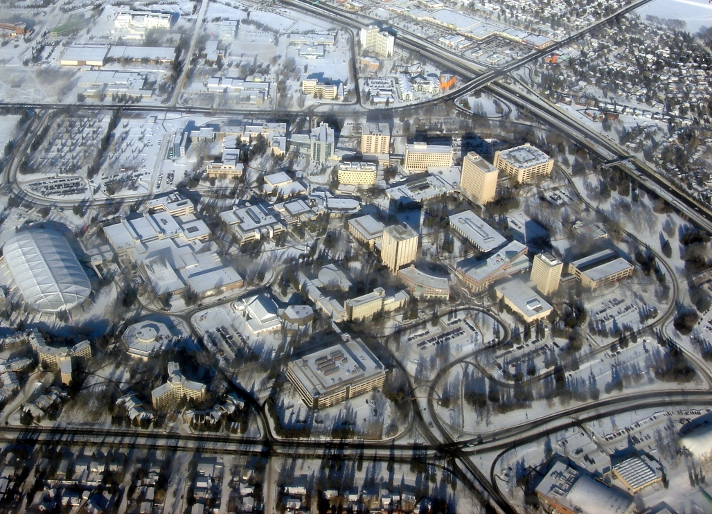 The University of Calgary from above. Image via wikimedia.org