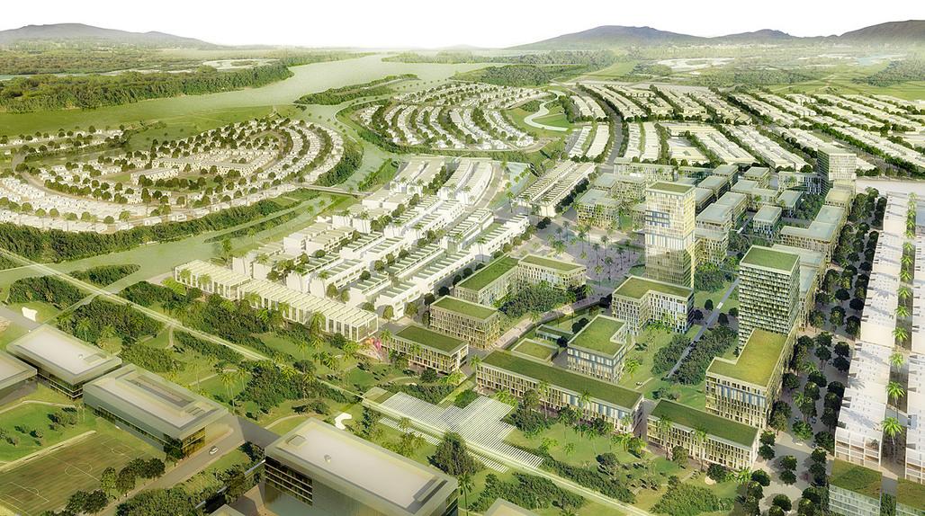 Competition-winning Master Plan for the Golden Hills development in Danang, Vietnam (Image: SOM)