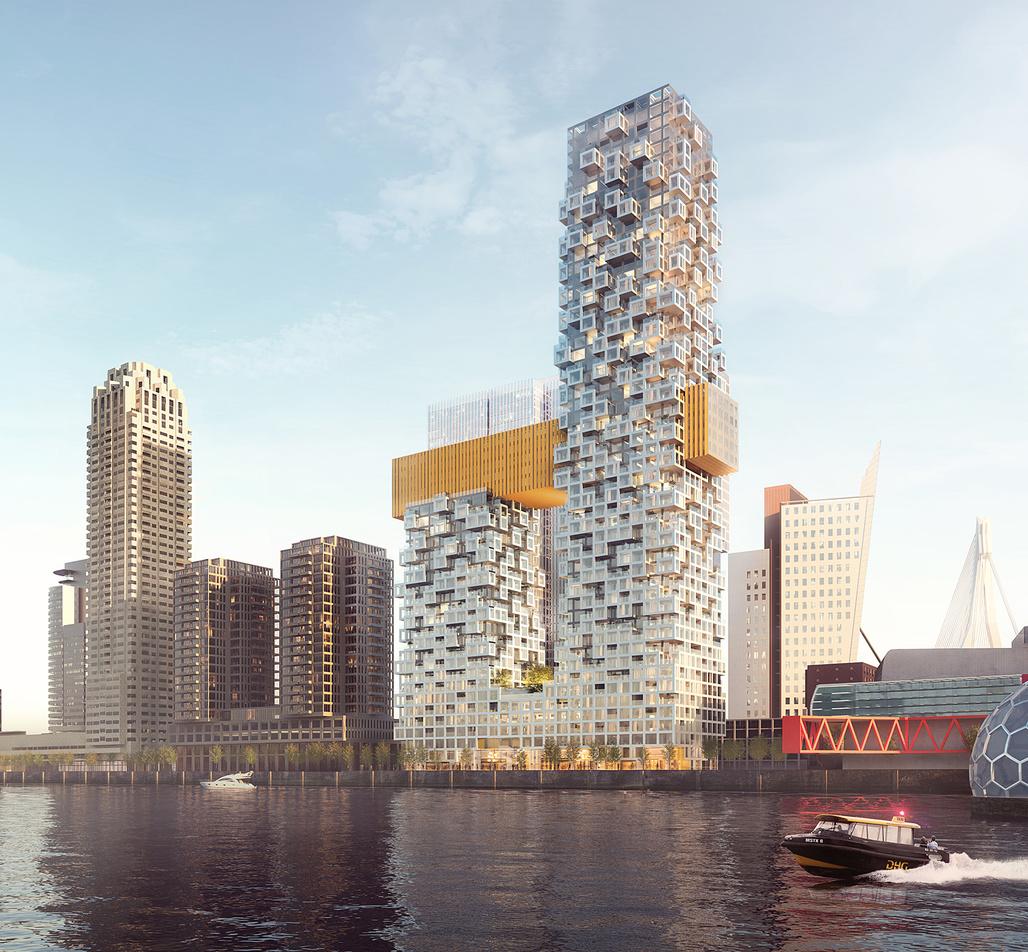 Coming to Rotterdam's Wilhelminapier port development soon: The Sax by MVRDV in collaboration with ARUP. Copyright MVRDV.