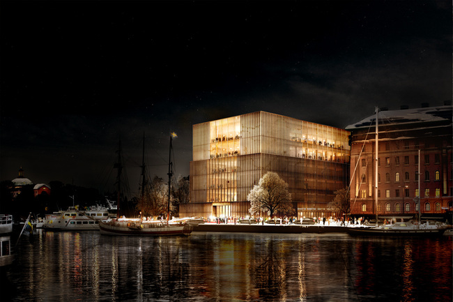 David Chipperfields proposal won the Nobel Center design competition in 2014. Image © David Chipperfield Architects.